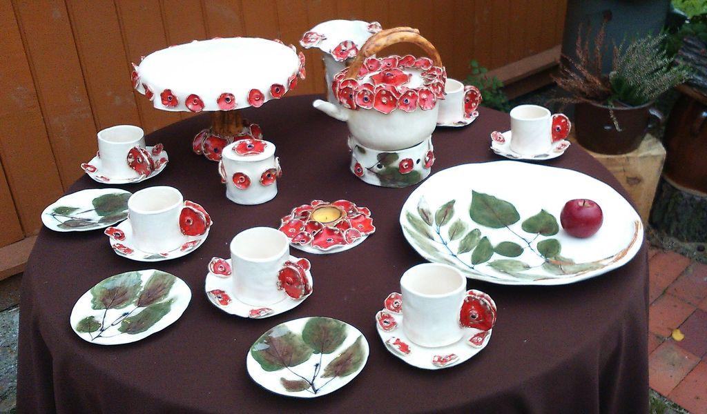 Zestaw naczyń ceramicznych Maki